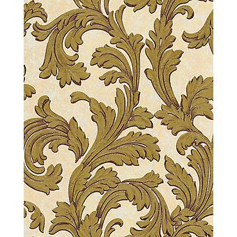 Baroque wallpaper EDEM 1032 11 vinyl wallpaper smooth with ornaments and metallic effect white ivory gold 5.33 m2