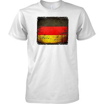 Niemczech Grunge Grunge efekt flaga - koszulki męskie