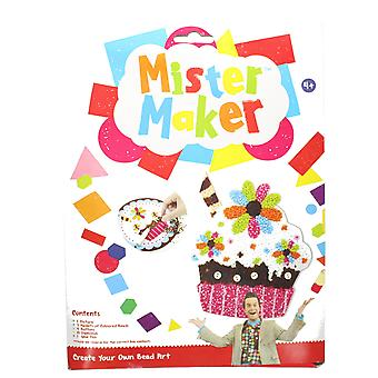 Mister Maker Cupcake Flowers Bead Art with Picture, Beads & Glue Pen