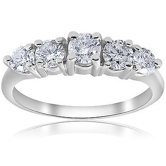 1 CT 5 - Pierre est diplômé Diamond Ring 14K White Gold