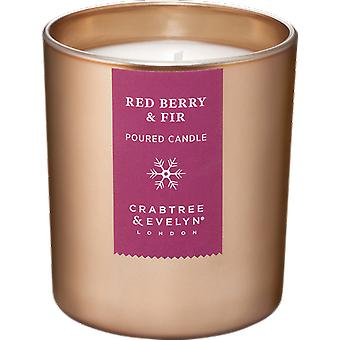 Crabtree & Evelyn Red Berry & Fir Christmas Candle