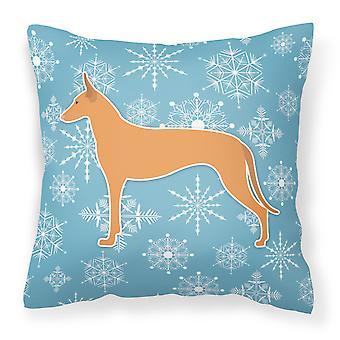 Winter Snowflake Pharaoh Hound Fabric Decorative Pillow