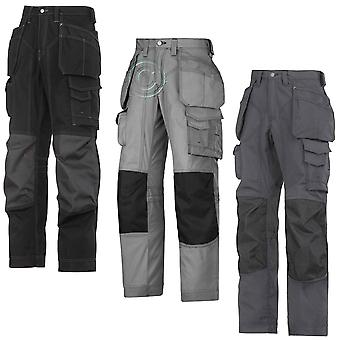 Snickers Floorlayers Trousers. Rip-Stop(Kevlar). (3 Colours/L-XL Leg)-3223A