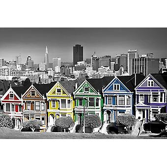 Rainbow Row Poster Poster Print