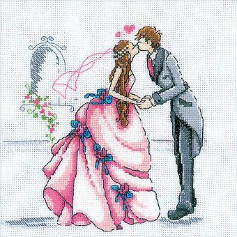 Bride And Groom Counted Cross Stitch Kit 8