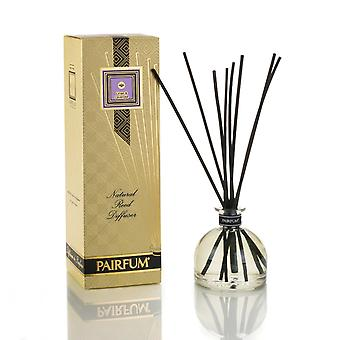 Large & Natural Reed Diffuser - Long-lasting & Healthy - Beautiful Perfumes that Compliment You - Fragrances for 6 - 9 months (250 ml) - by PAIRFUM - Perfume: Linen & Lavender - with Black Reeds