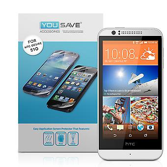 Yousave HTC Desire 510 Screen Protectors - 3 Pack