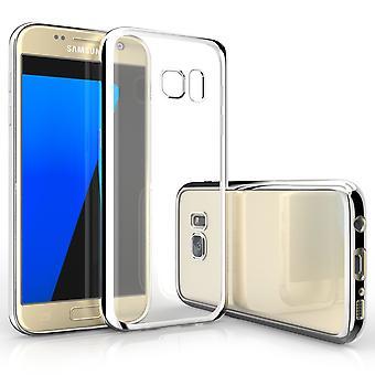 Caseflex Samsung Galaxy S7 Electroplate TPU Gel Case - Silver