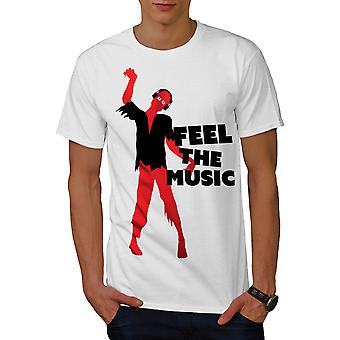 Zombie Feel Song Dj Music Men WhiteT-shirt | Wellcoda