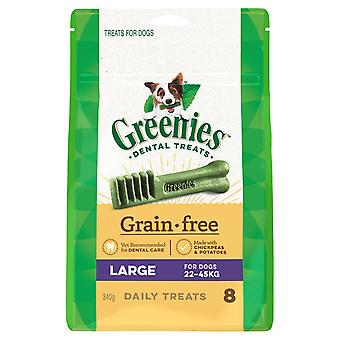Greenies Large Grain Free Treat Pk 340g