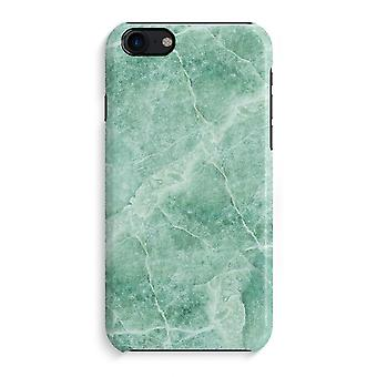 iPhone 7 Full Print Case - Green marble