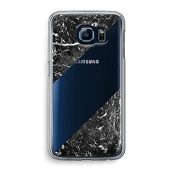 Samsung Galaxy S6 Transparent Case (Soft) - Black marble