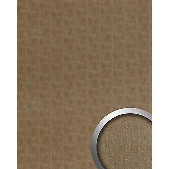 Wall Panel metal optics WallFace 20200 SLIGHTLY USED bronze AR wall smooth in the used look brushed adhesive abrasion resistant bronze Brown-grey 2.6 m2