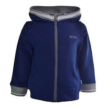 Hugo Boss Kids Hugo Boss Infants Blue Hooded Sweatshirt