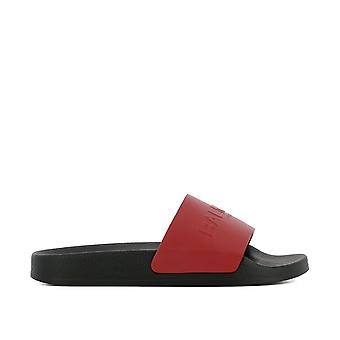 Balmain women's S8FC140PVSY132 red leather sandals