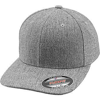 Flexfit PLAIN CHIP Stretchable curved Cap - heather grey