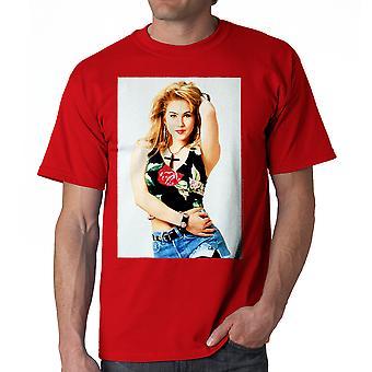 Gift med børn Kelly Cross mænds rød T-shirt