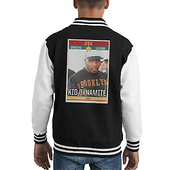 Sporting Legends Poster USA Mike Tyson Kid Dynamite Iron Mike Kid's Varsity Jacket