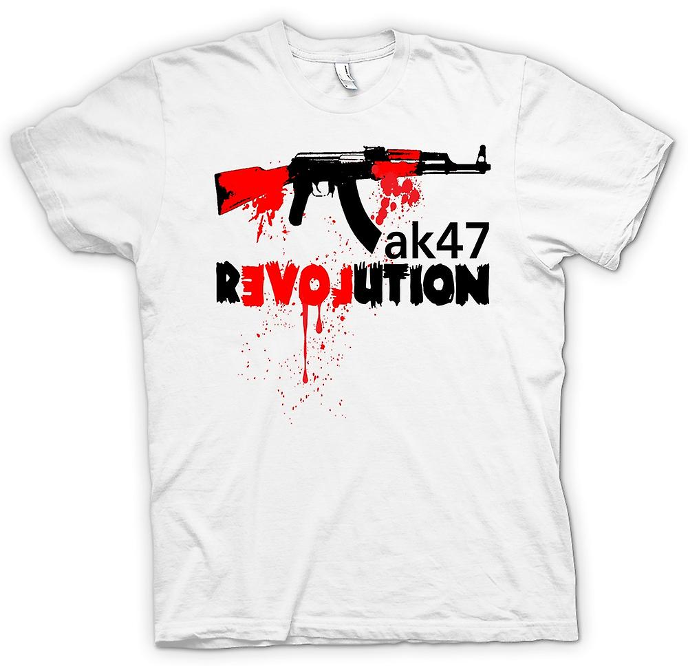 Mens T-shirt-AK47-Revolution