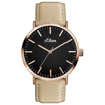 s.Oliver Damen Uhr Armbanduhr Leder SO-3376-LQ
