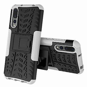 Hybrid Case 2teilig Outdoor Weiß für Huawei P20 Etui Tasche Hülle Cover Schutz