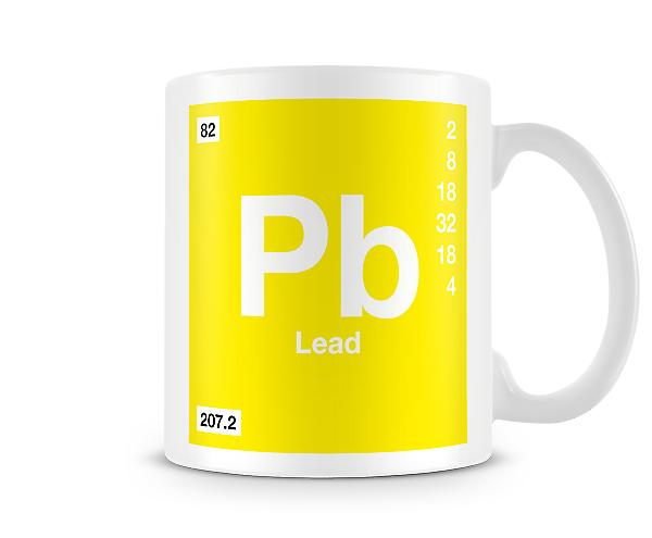 Element Symbol 082 Pb - Lead Printed Mug