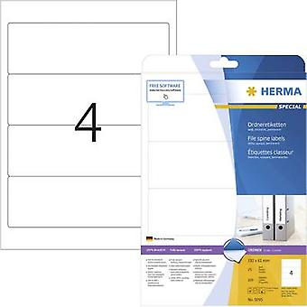 Herma 5095 Labels (A4) 61 x 192 mm Paper White