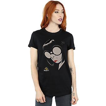 Disney Women's The Incredibles 2 Edna Boyfriend Fit T-Shirt