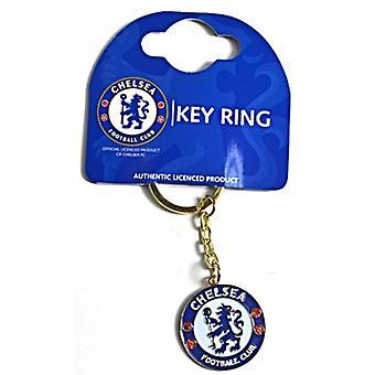 Chelsea Fc Crest Small Metal / Enamel Keyring