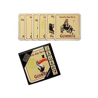 Seks Guinness Cork støttet drinker matter / Coasters (gamle Ad. Design)