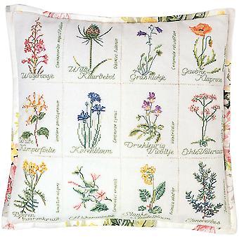 Wild Flower Cushion On Aida Counted Cross Stitch Kit-16.125
