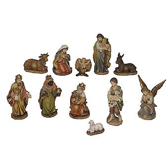Crib Nativity NOEL 11 pieces 13 cm Nativity crib accessories