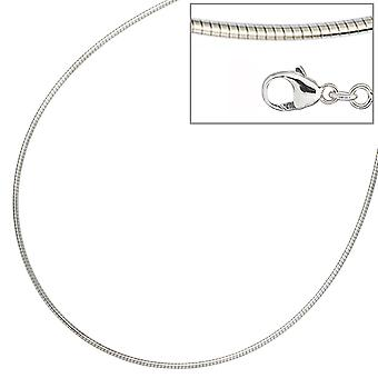 Choker necklace silver necklace 925 sterling silver rhodium plated 1.4 mm 42 cm lobster clasp