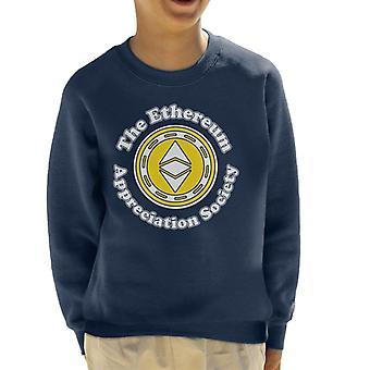 The Ethereum Appreciation Society Kid's Sweatshirt