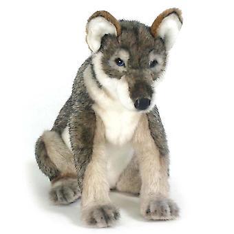 Hansa Sitting Wolf Pup (30cm)