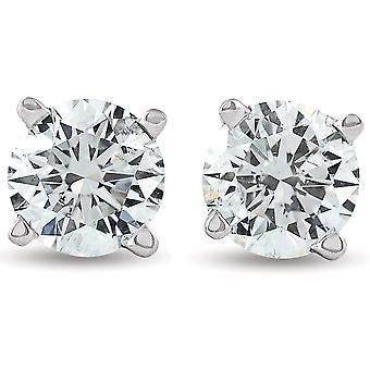 1 1 / 4ct Diamond hengsten 14K White Gold