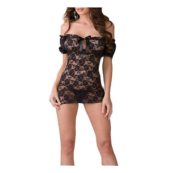 Waooh 69 - Babydoll And Black Lace String Pipa