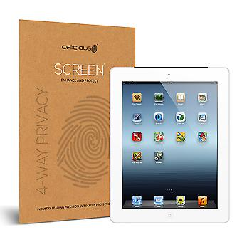 Celicious Privacy Plus 4-Way Anti-Spy Filter Screen Protector Film Compatible with Apple iPad 4