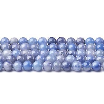Strand 40+ Blue Aventurine 8mm Plain Round Beads CB43406-3