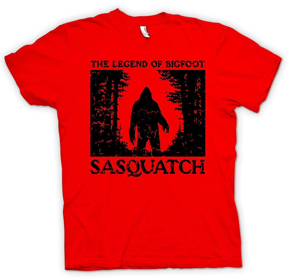 Mens t-skjorte - Sasquatch Yeti Bigfoot Sighting - Cryptozoology
