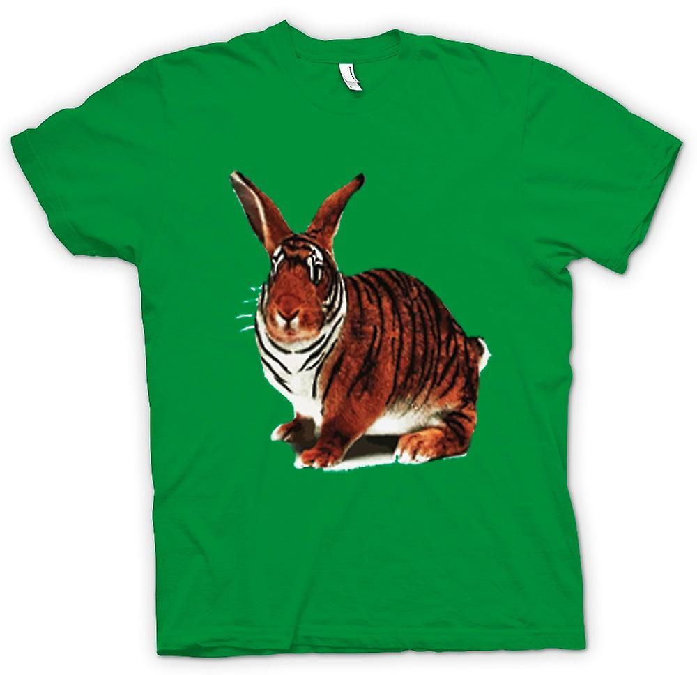 Mens T-shirt-Tiger Rabbit Pop-Art Design