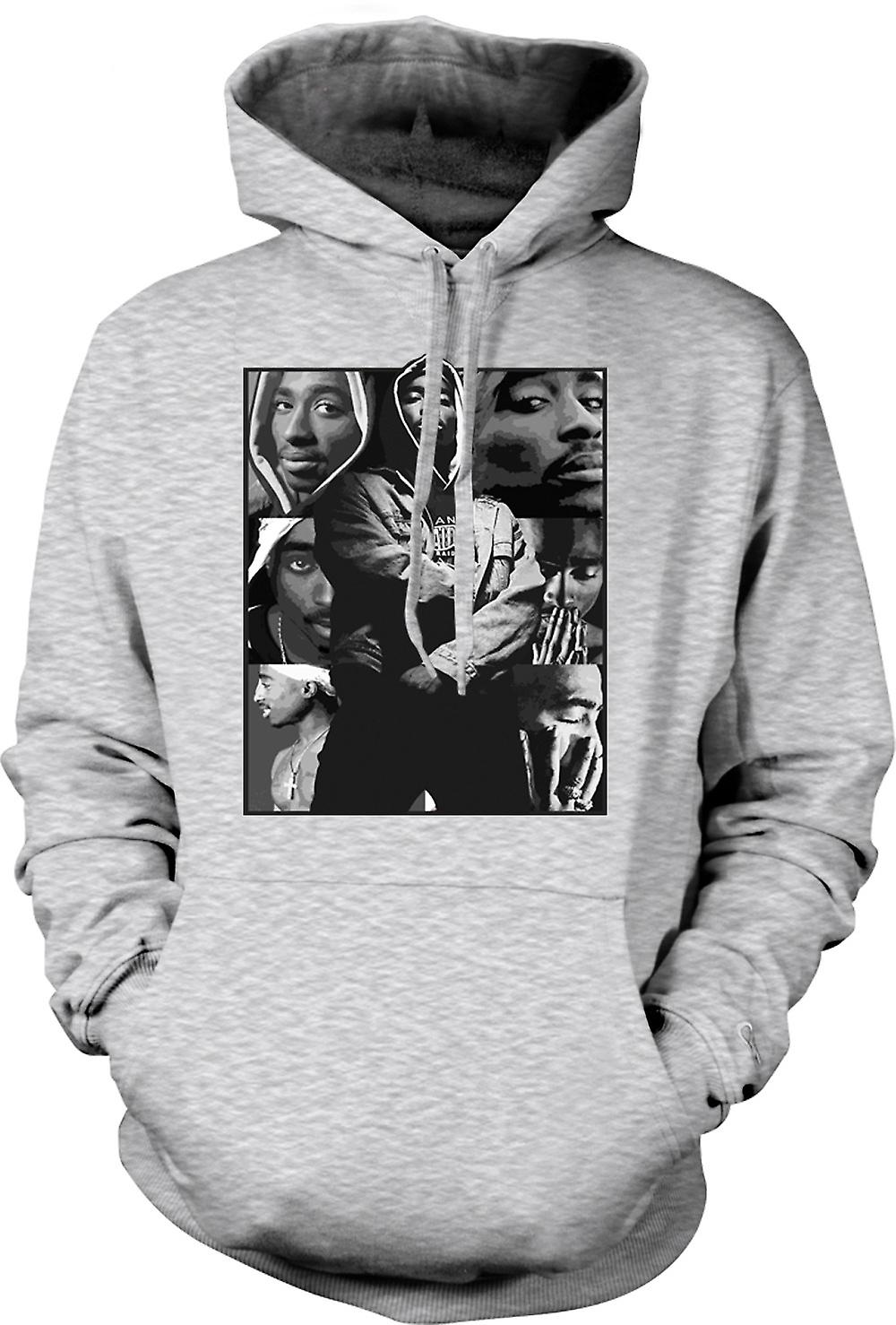 Mens Hoodie - Tupac Collage - Hip Hop