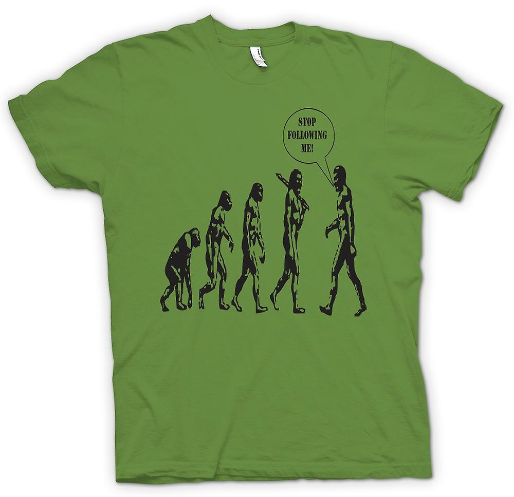 Mens t-shirt - Evolution - Stop a seguirmi