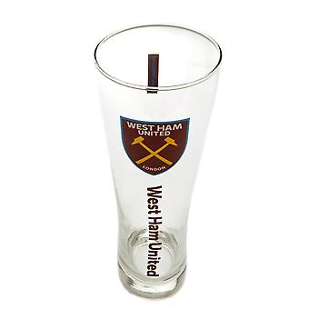 West Ham United FC Official Tall Beer Glass