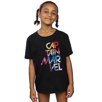 Marvel jenter Captain Marvel galaktiske tekst t-skjorte
