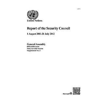 Rapport du Conseil de sécurité - (1er août 2011 - 31 juillet 2012) par Uni