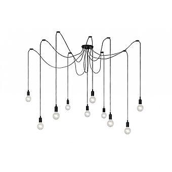 Lucide Fix Multiple Modern Silicone Black Pendant Light