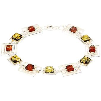 The Olivia Collection Sterling Silver Two Color Amber Bracelet