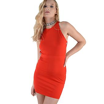 Lovemystyle Short Red Dress With Feature Black Zip - SAMPLE