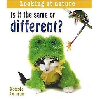 Is het de zelfde of verschillend? (Kijkend naar natuur)